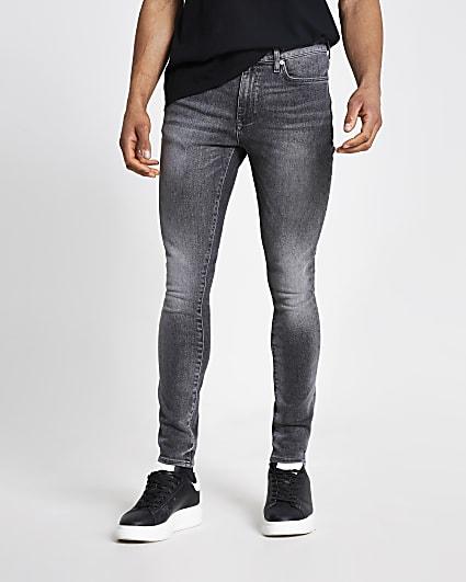 Black spray on skinny fit jeans