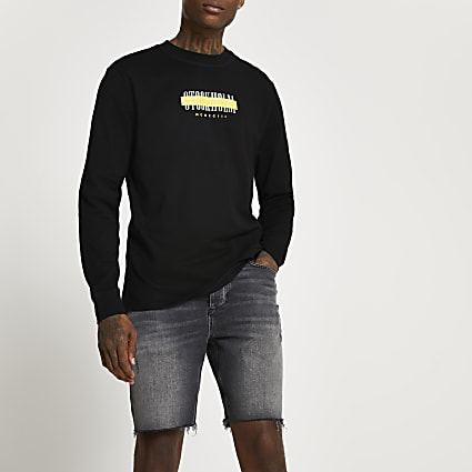 Black Stockholm long sleeve t-shirt