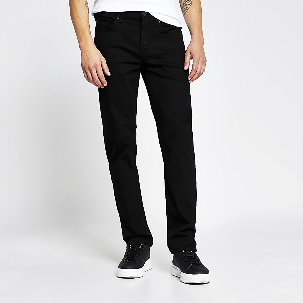 Black straight Dean jeans