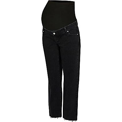 Black straight leg maternity jeans