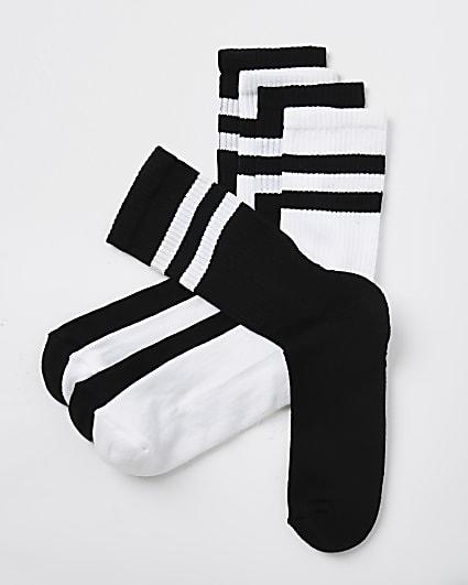 Black stripe design socks 5 pack