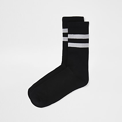 Black stripe design socks