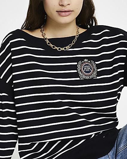 Black stripe 'RR' long sleeve sweatshirt