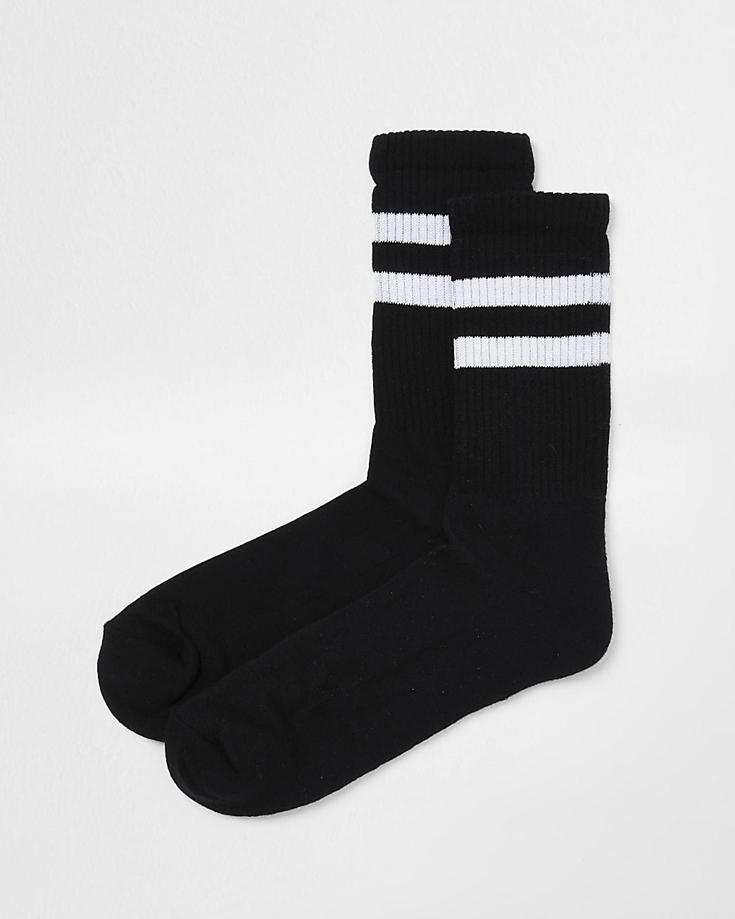Black stripe tube socks