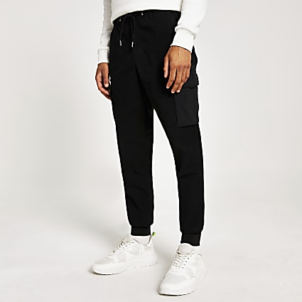 Black Svnth cargo skinny Sid trousers