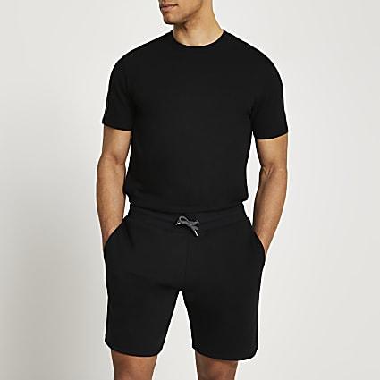 Black t-shirt and shorts set
