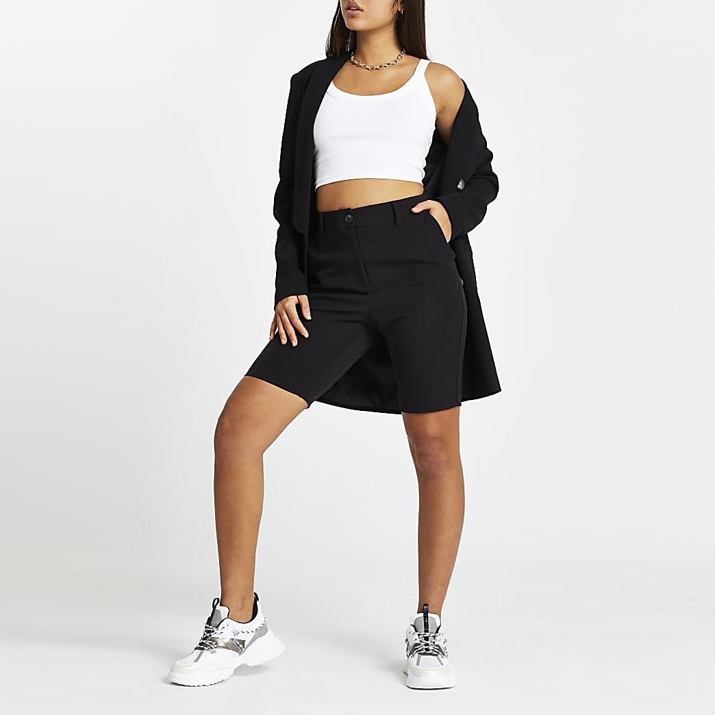 Black tailored cycling shorts