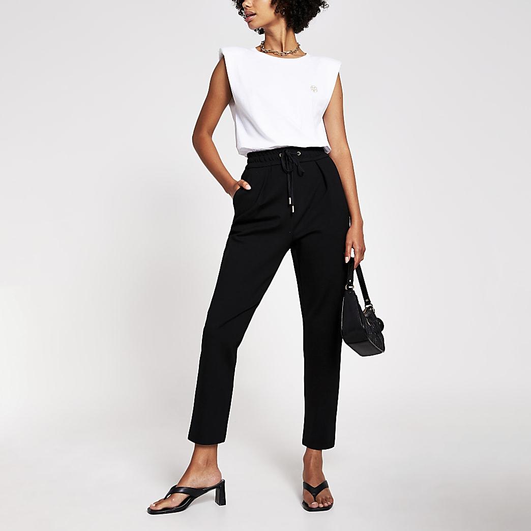 Black Tapered Trouser