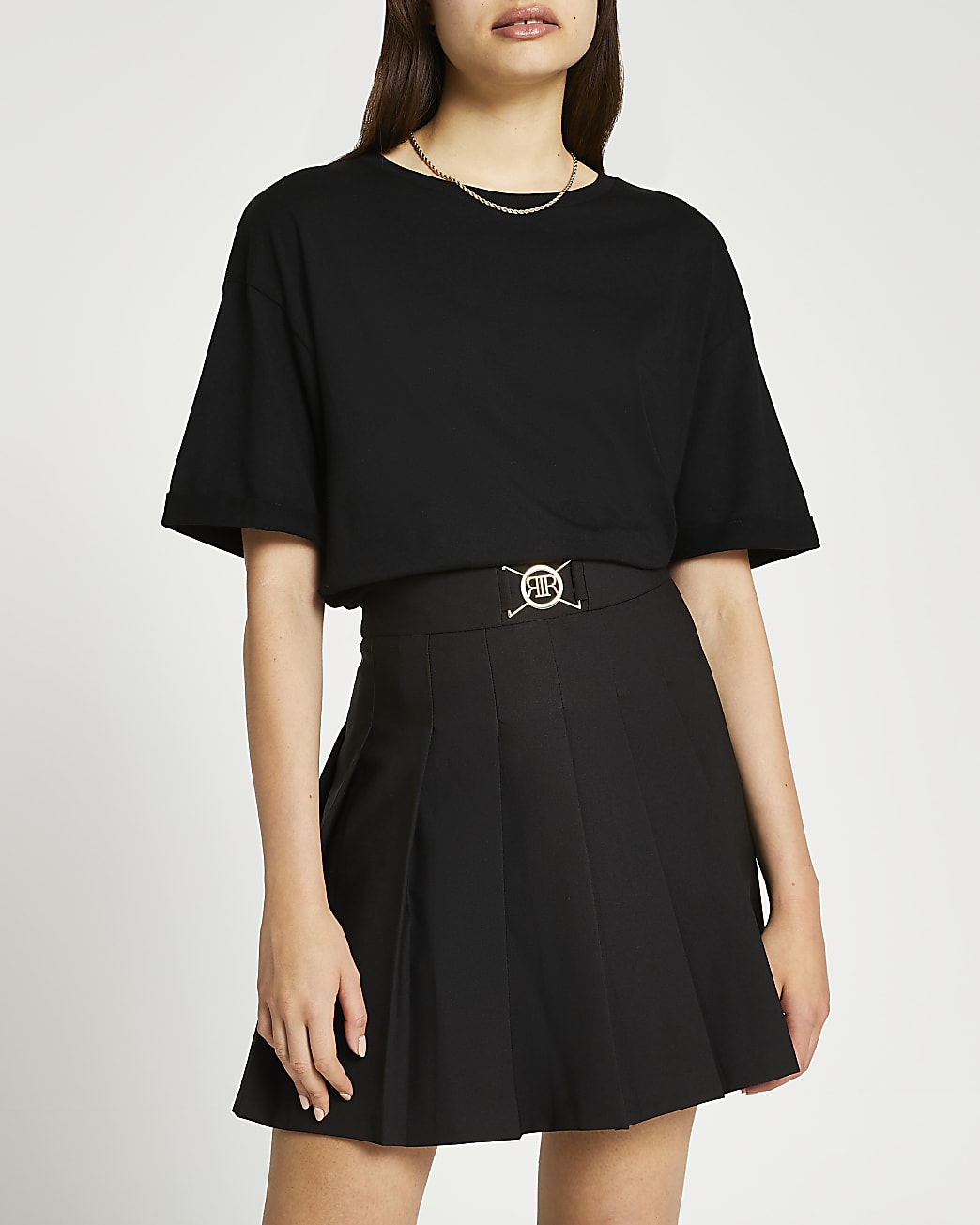 Black tennis mini skirt
