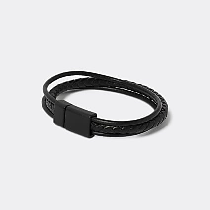 Black textured wristband