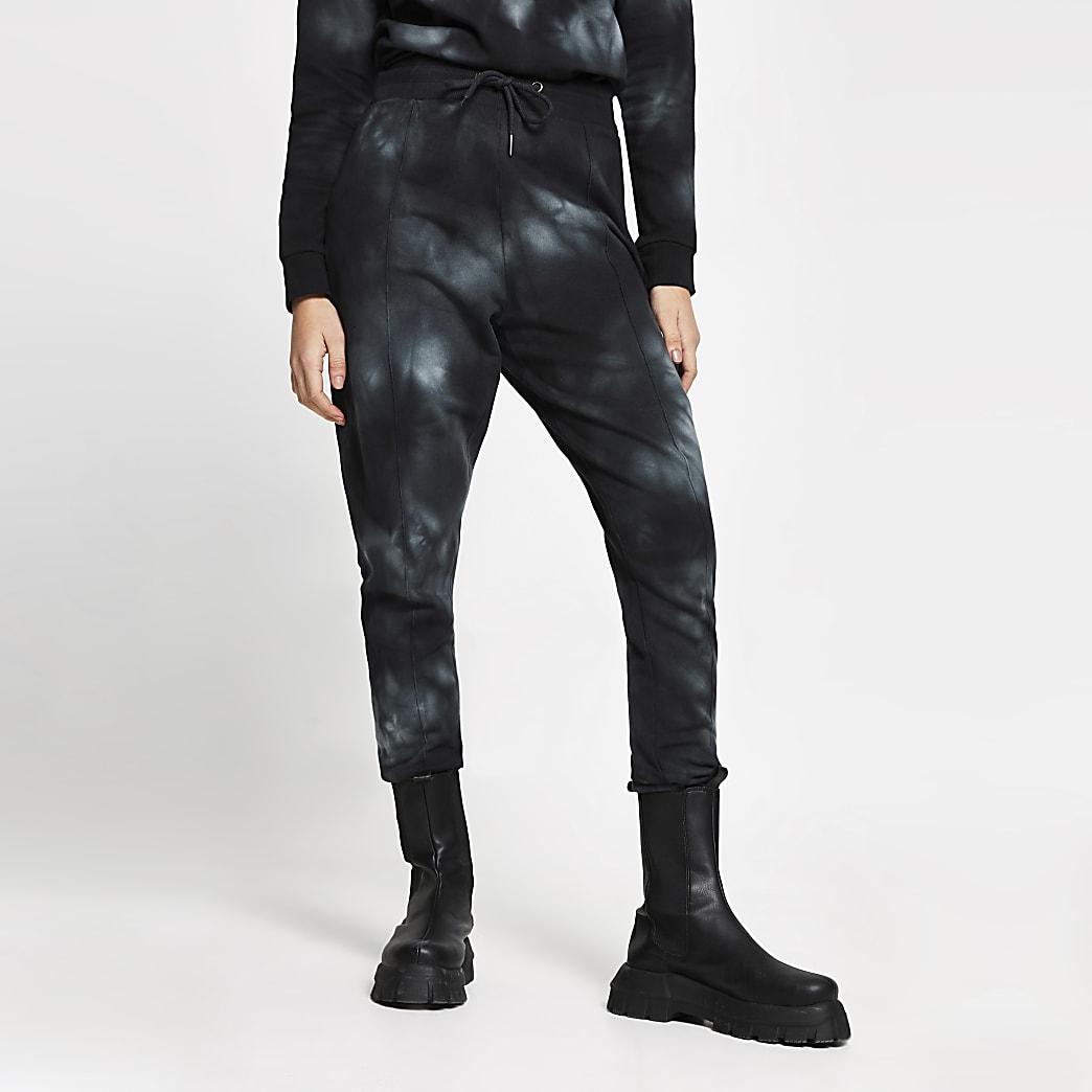 Black tie dye joggers