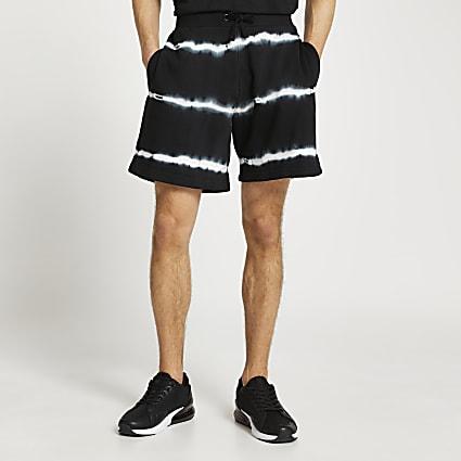 Black tie dye shorts