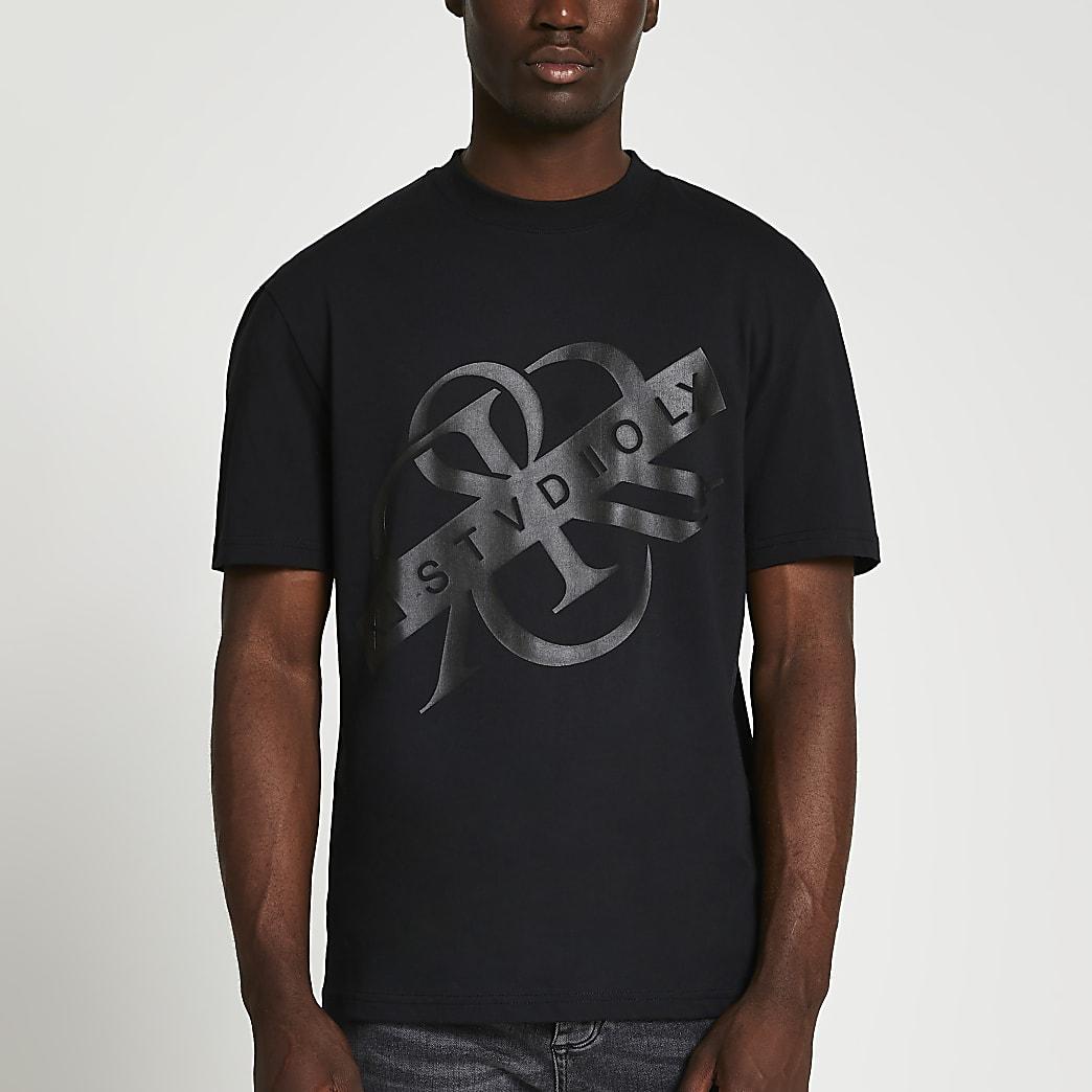 Black tonal RR t-shirt