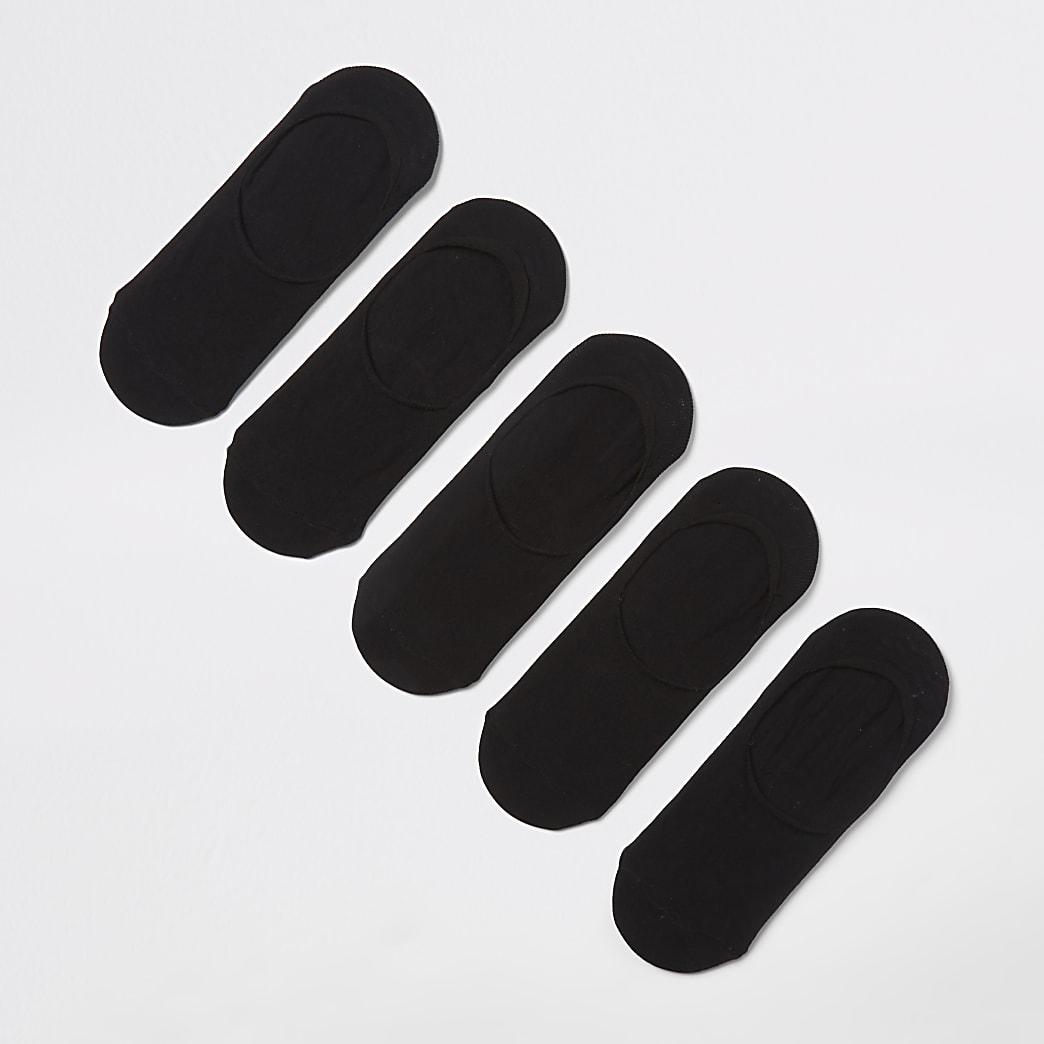 Black trainer liner socks 5 pack