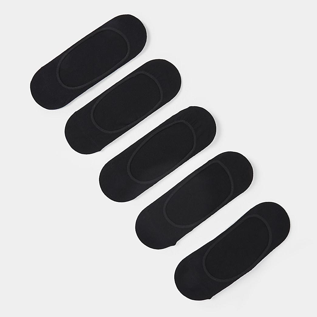 Black trainer socks 5 pack