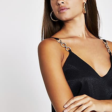 Black trim cami