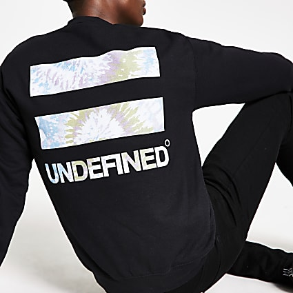 Black 'Undefined' printed long sleeve T-shirt