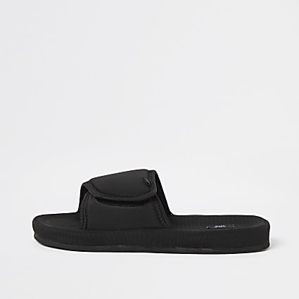 Black velcro sliders