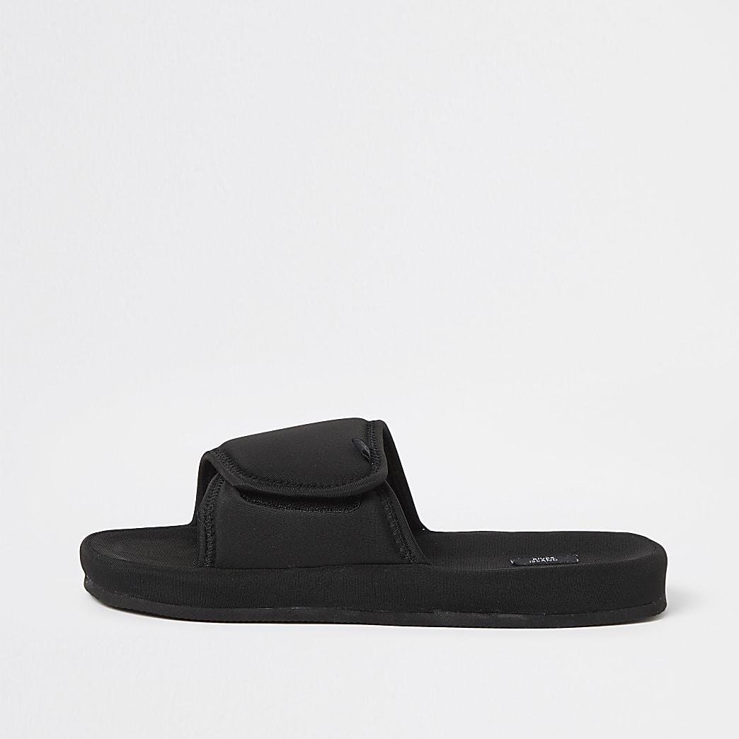 Black velcro sliders