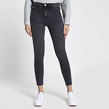 Black wash Molly mid rise jeggings