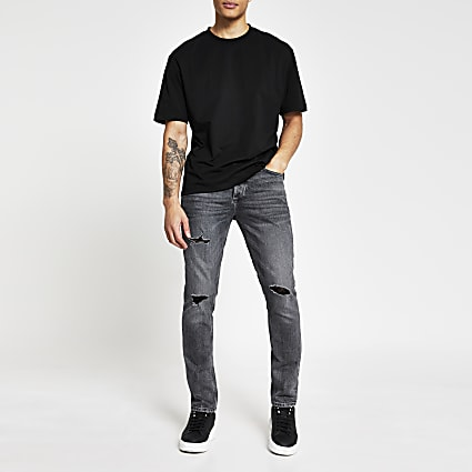 Black wash slim fit jeans