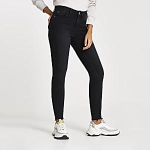 Amelie - Zwarte wash superskinny jeans
