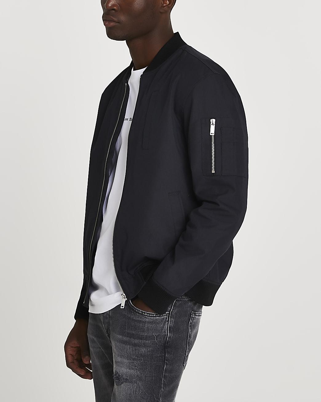 Black washed bomber jacket
