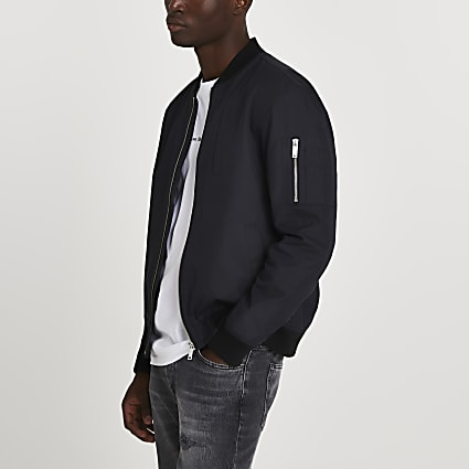 Black washed bomber jacket