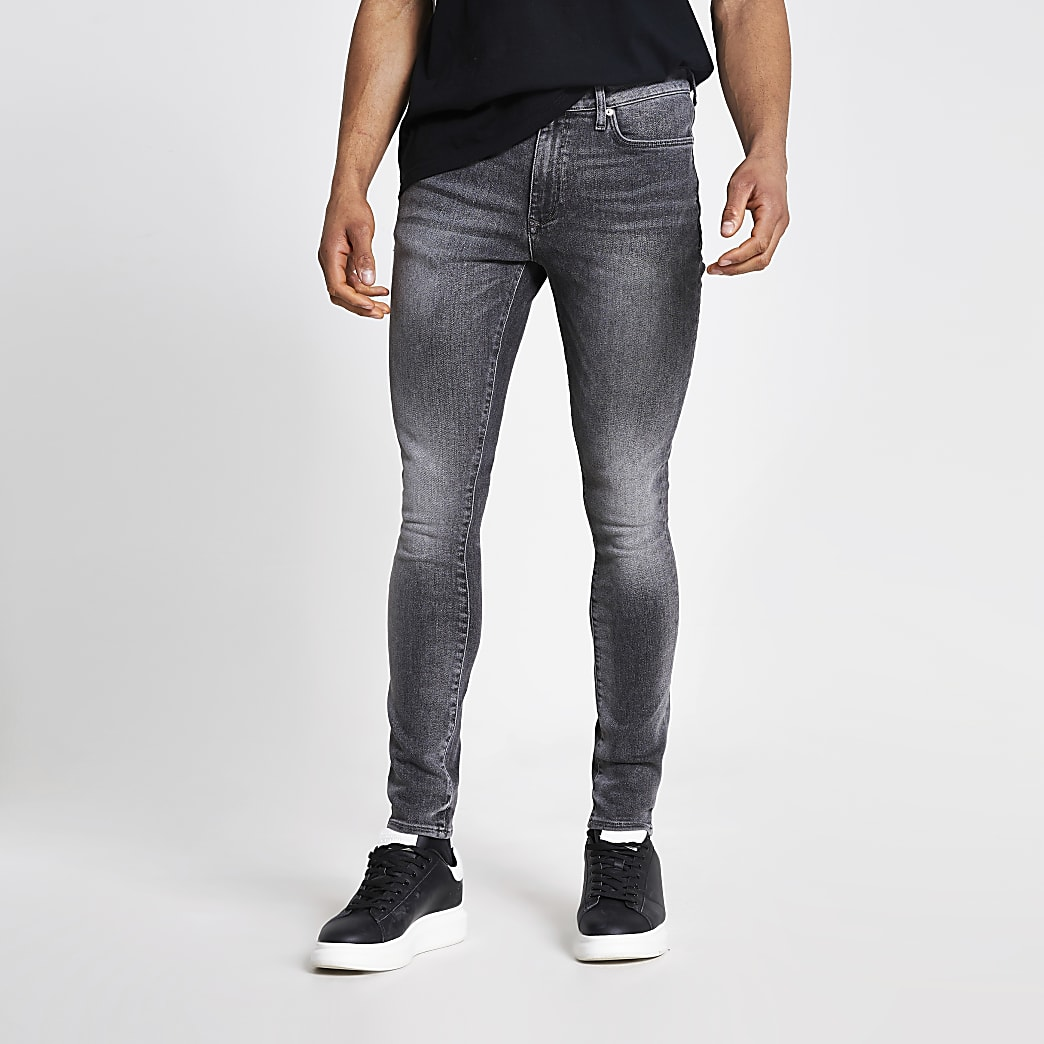 Black washed Danny super skinny jeans