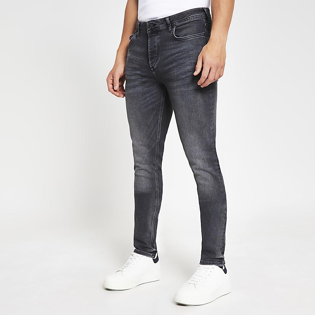 Black washed Dylan slim fit jeans
