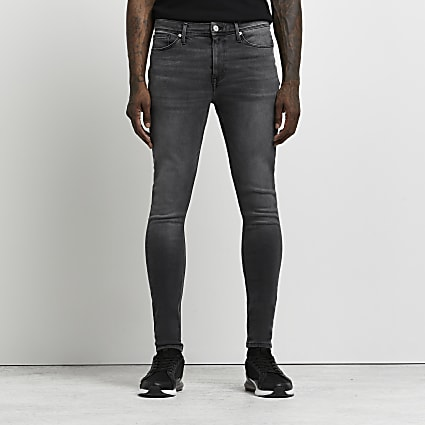 Black washed Ollie spray on skinny jeans