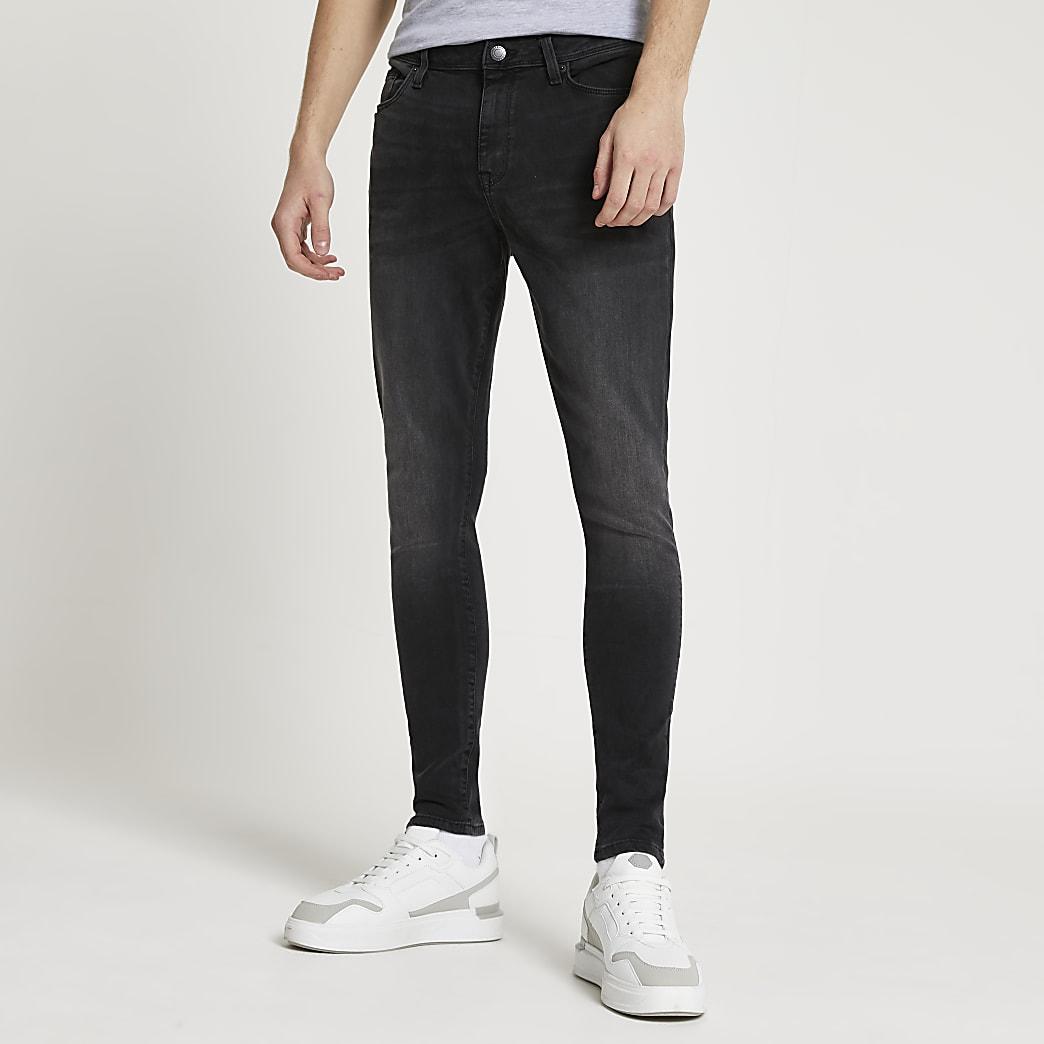 Black washed Ollie spray on skinny jeans