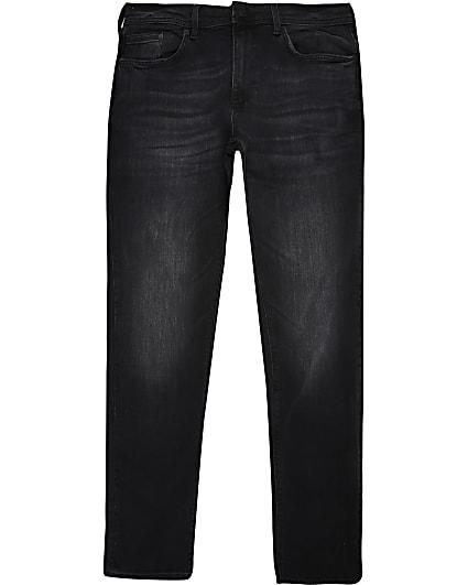 Black washed skinny fit jeans