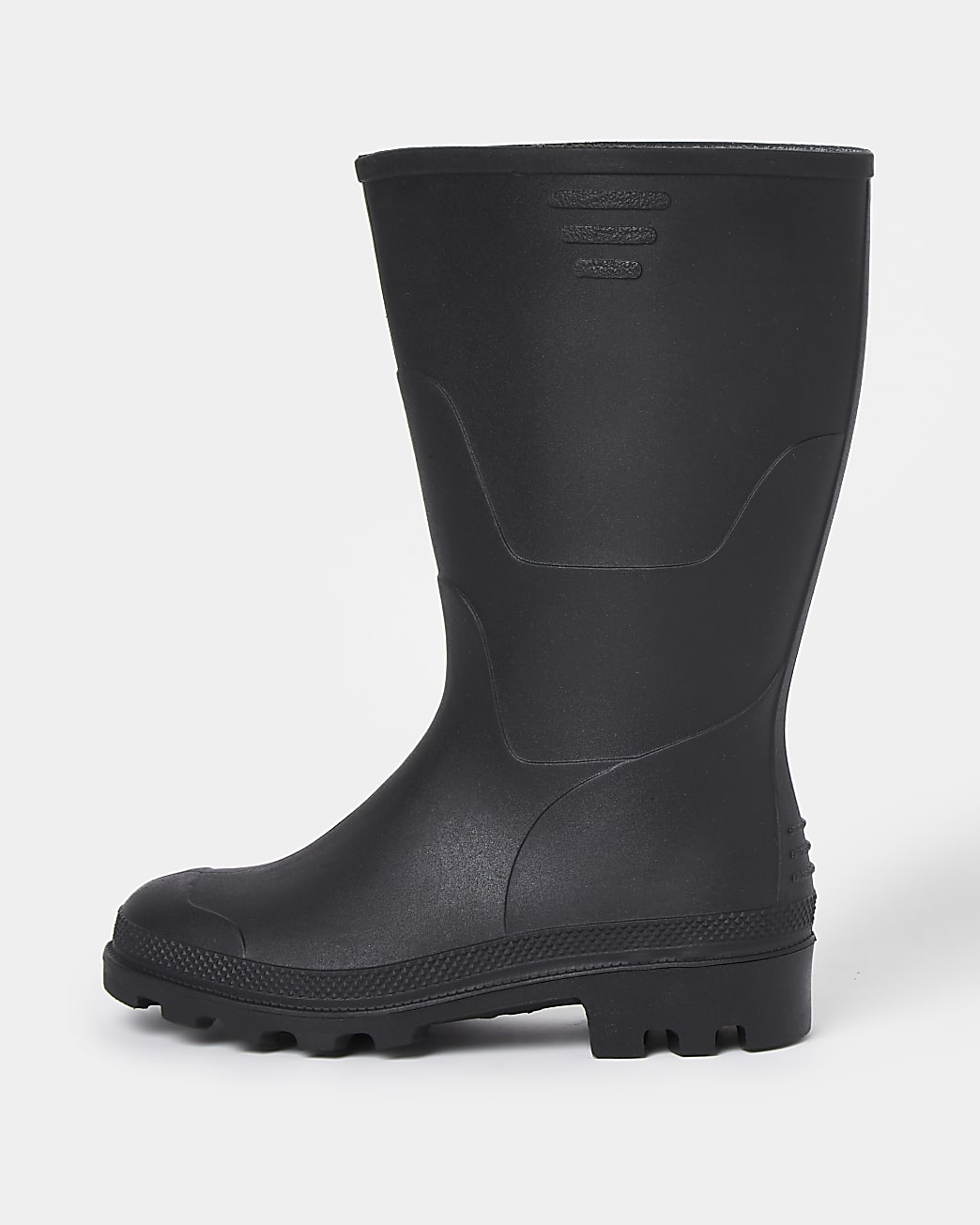 Black welly boots
