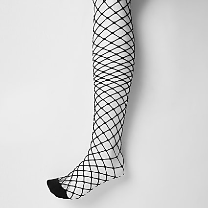 Black wide fishnet tights