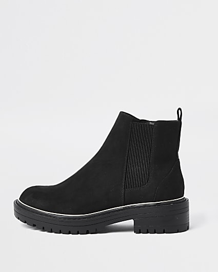 Black wide fit chelsea ankle boots
