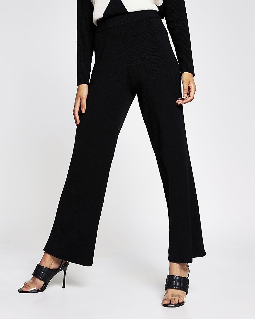 Black wide leg trouser