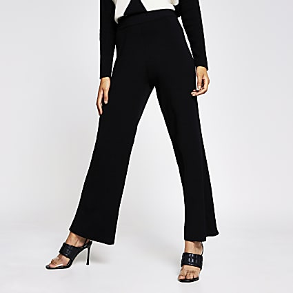 Black wide leg trouser