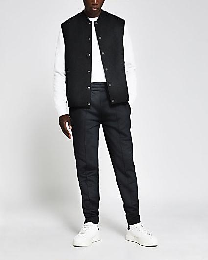 Black wool gilet
