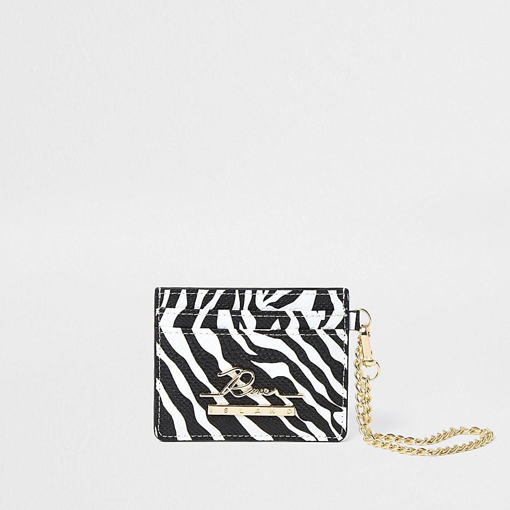 Black zebra cardholder