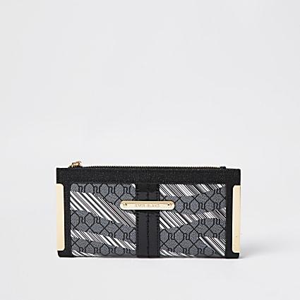 Black zebra metal corner purse