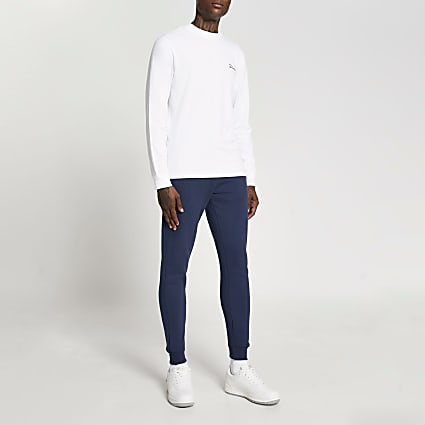 Blue & white River t-shirt and joggers set