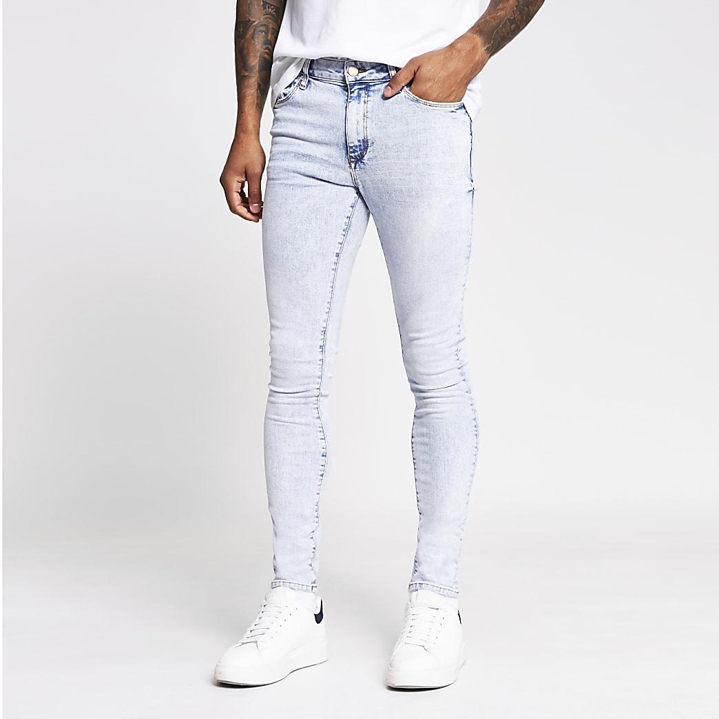 Blue acid was Danny super skinny jeans