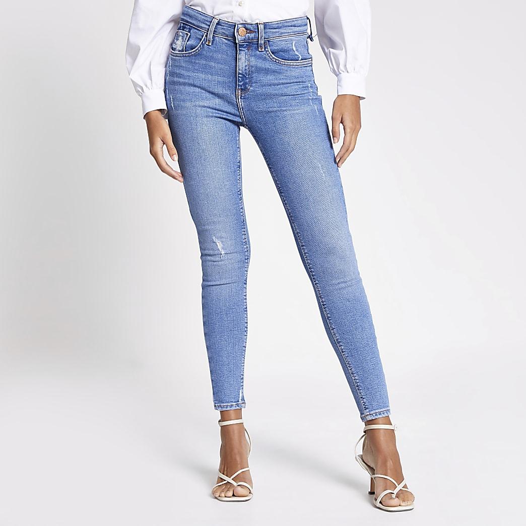 Amelie – Superenge Skinny Jeans in Blau