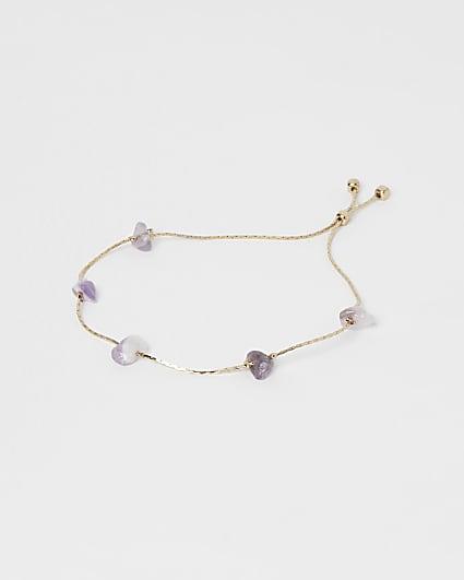 Blue amethyst bracelet