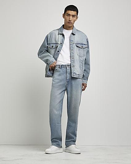 Blue baggy fit jeans