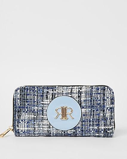 Blue boucle purse
