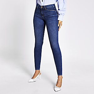 Blue bum sculpting Molly mid rise jeggings