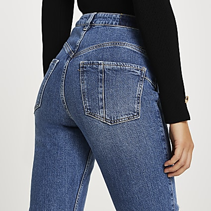 Blue Carrie high rise bum sculpt slim jeans