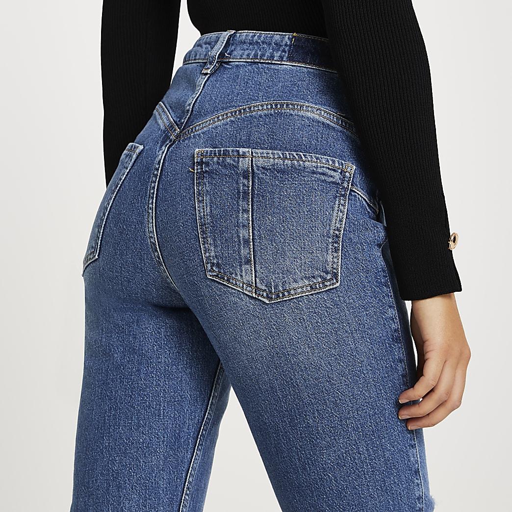 Blue Carrie high rise bum sculpt slim jeans